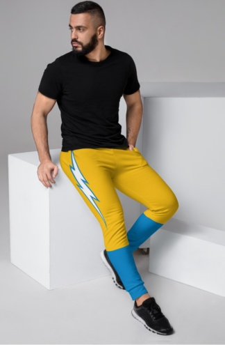 Los Angeles California LA Chargers Game Day Uniform Football Joggers for men football sweatpants lightening stripe