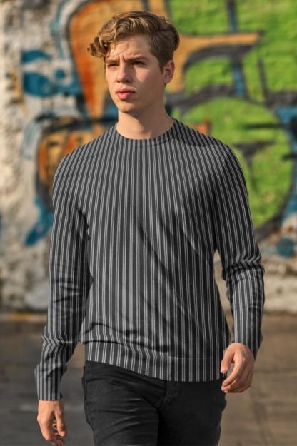 Pinstripe Sweatshirt stripe striped stripped red blue black purple top winter