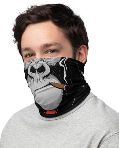 Gorilla Ape Monkey Face Mask Neck Warmer cigar smoking smoke monkey