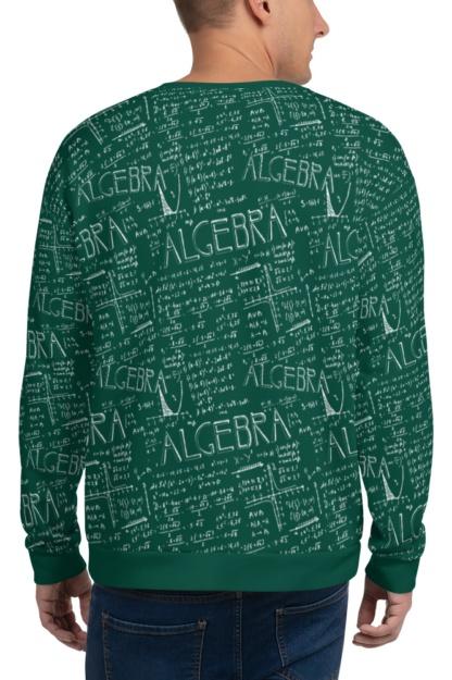 Chalkboard Algebra Math Sweatshirt