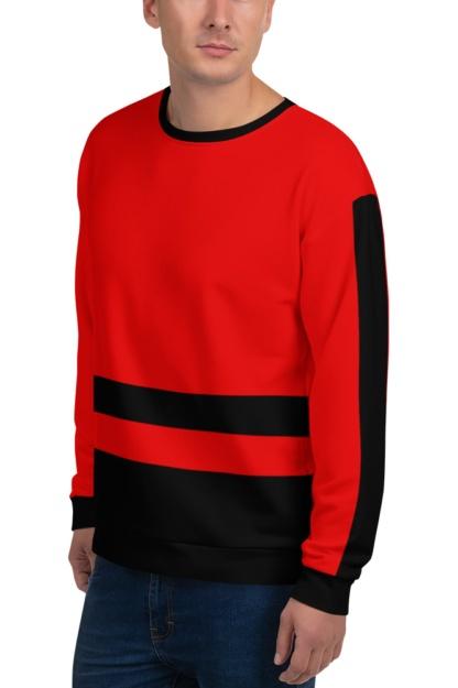 Stripe Sweatshirt designer trendy striped stripes black white orange pink green