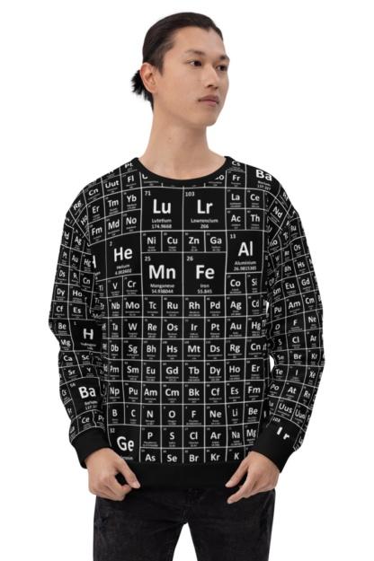Periodic Table of Elements Sweatshirt / Unisex Size science math chemist