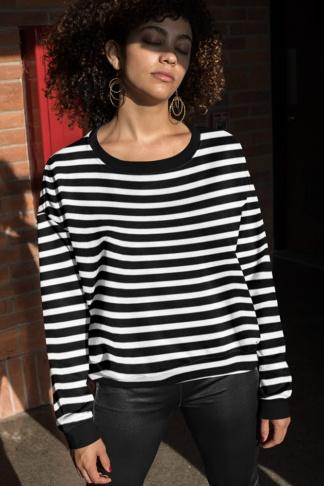 Horizontal Stripe Sweatshirt stripes striped designer hot fashion top red black white pink orange