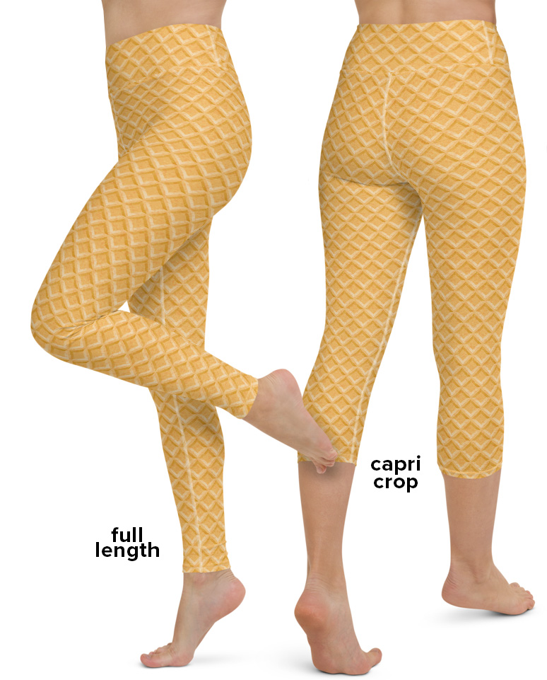 Ice Cream Cake Cone Costume Yoga Leggings Halloween Fancy Dress