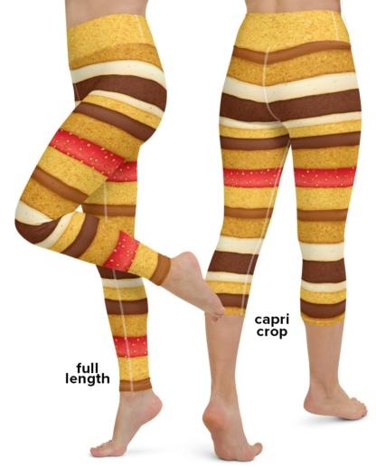 Sponge Layered Cake Costume Yoga Leggings Halloween