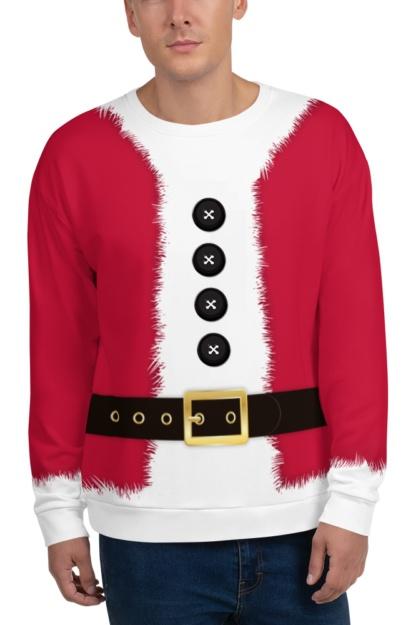 Christmas Santa Claus Costume Sweatshirt Holidays Gift