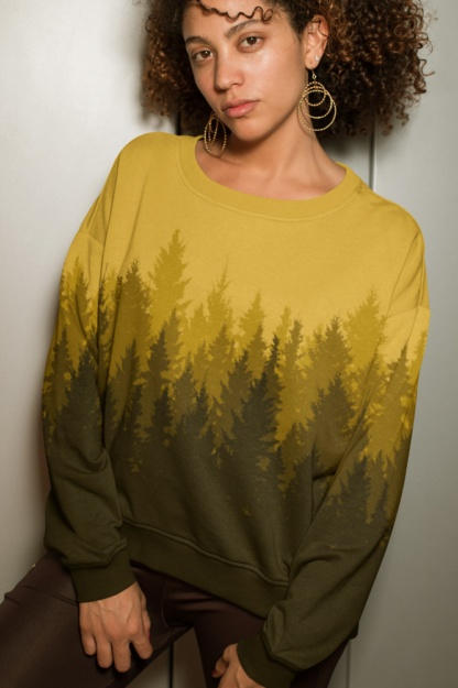 Gold woods Country Pine Tree Forest Sweatshirt