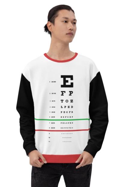 optometrist doctor test Snellen Eye Chart Sweatshirt