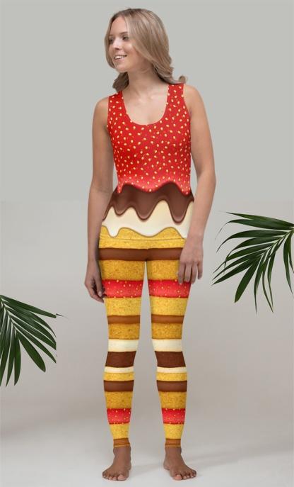 Strawberry & Chocolate Icing Sponge Cake Costume Tank Top halloween