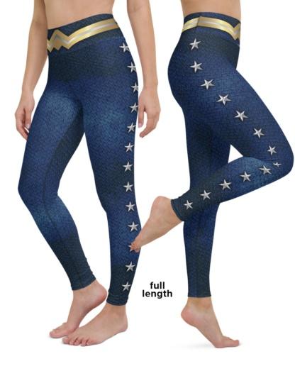 Wonder Women Super Hero Yoga Leggings Halloween custume