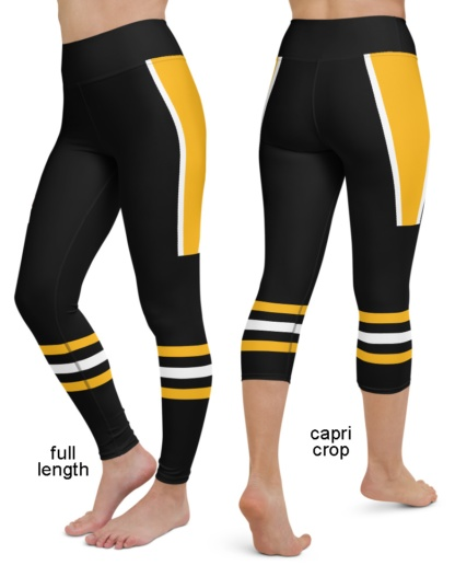 Pittsburgh Penguins NHL Hockey Uniform Yoga Leggings