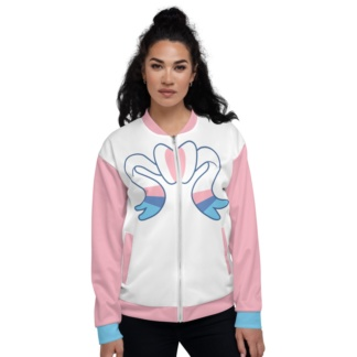 Pikachu Pink & Blue Sylveon Unisex Bomber Jacket