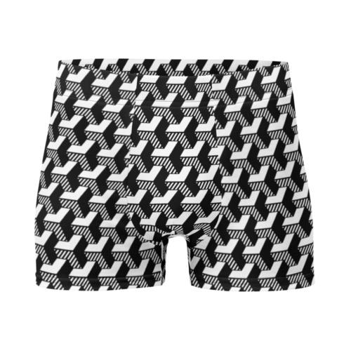 3D geometric Striped Men's Boxer Briefs Underwear