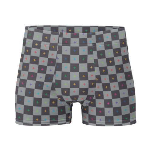 3D UV Grid Men's Boxer Briefs Underwear animate animator graphic designer