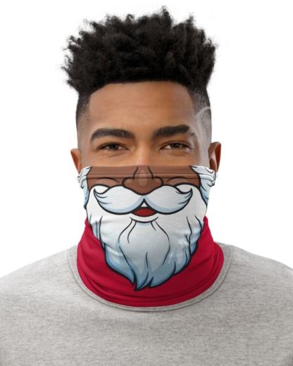 Santa Claus Face Mask Neck Warmer Holidays Anti Covid 19 coronavirus