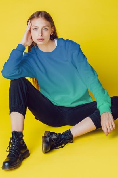 Gradient Sweatshirt / Unisex Size designer fashion color yellow pink purple green