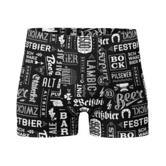 Craft Beer Boxer Briefs Men's Underwear pilsener, lager, bock, lager, stout bar pub