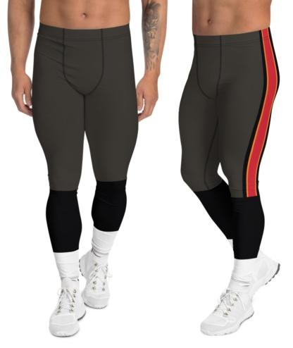 Tampa Bay Buccaneers Football Uniform Leggings For Men Brown White Alternate Red Stripe