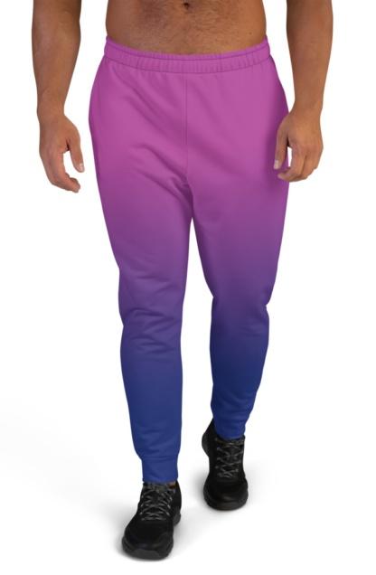 2 Color Gradient Joggers for Men boys sweat pants track suit bottoms pink purple