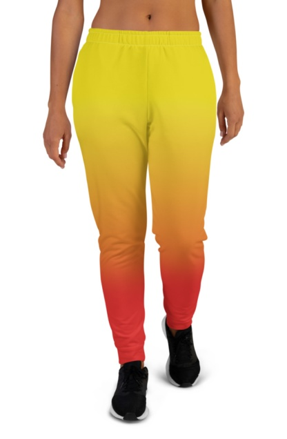 2 Color Gradient Joggers for women girls ladies sweat pants track suit bottoms yellow red
