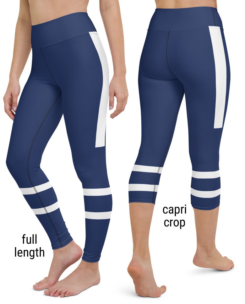 Toronto Maple Leafs NHL Hockey Uniform Yoga Leggings Canada Canadian