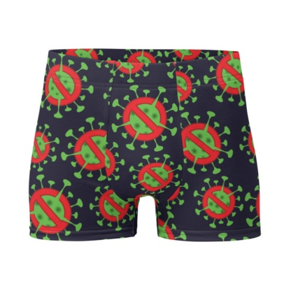 Anti Coronavirus (COVID-19) Boxer Briefs Men's Underwear rona gift virus