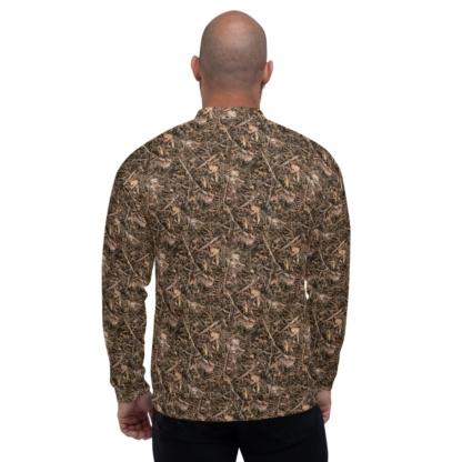 Realistic Camouflage Unisex Hunting Jacket hunter camo tree woods brown coat