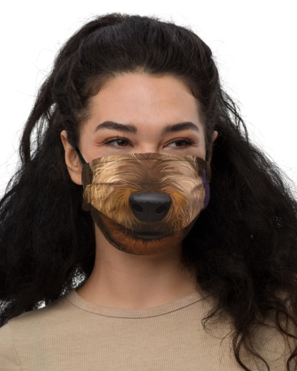 Airedale Terrier Dog Face Mask with Filter Pocket doggy pet puppy