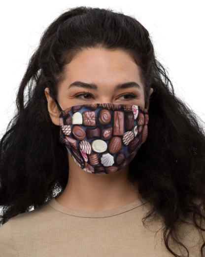 Sweet Tooth Chocolate Face Mask with Filter Pocket assorted candy