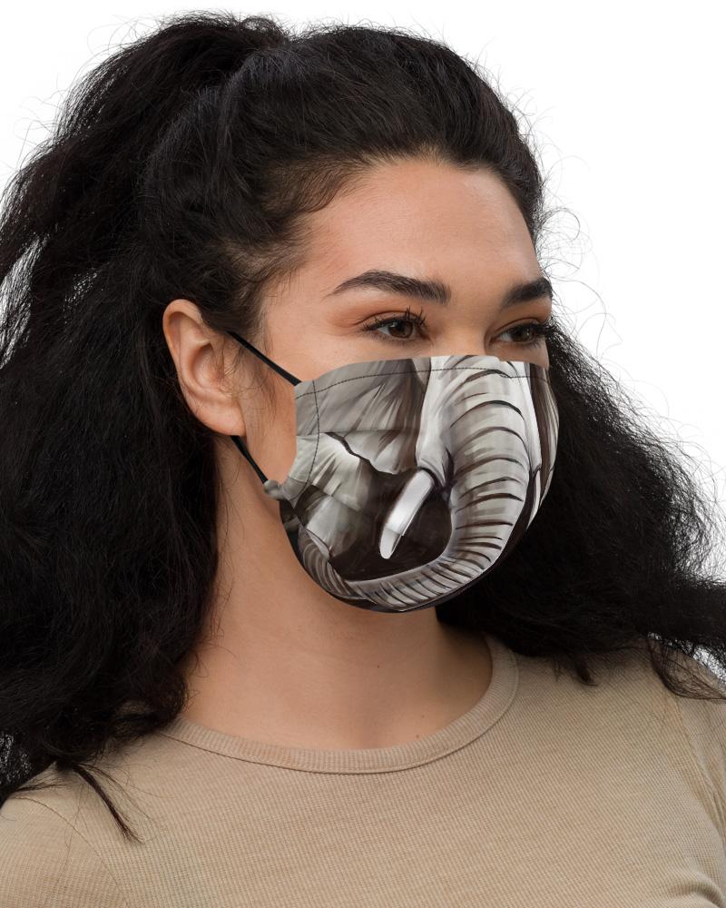 Washable Elephant Face Mask with Filter Pocket trunk animal
