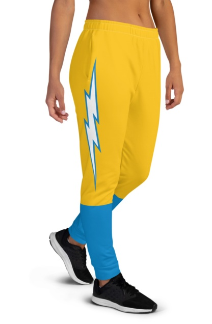 LA Chargers Football Uniform Joggers for Women