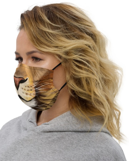 Lion Face Mask with Filter Pocket lioness cat cats kittens
