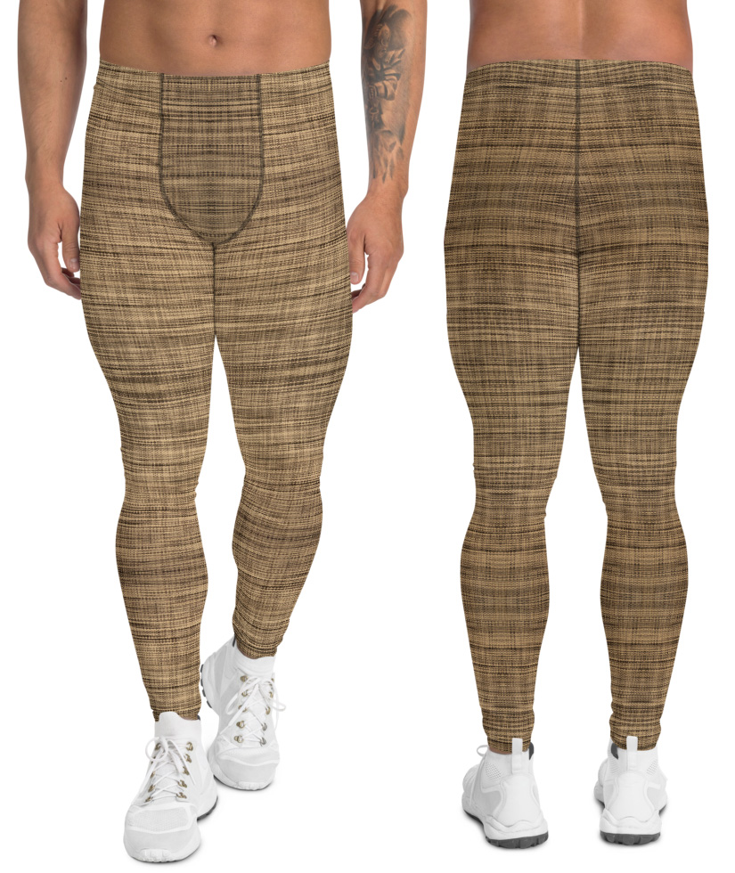 Weaved Linen Leggings for Men