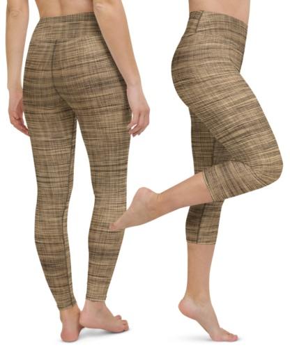 Weaved Linen Yoga Leggings