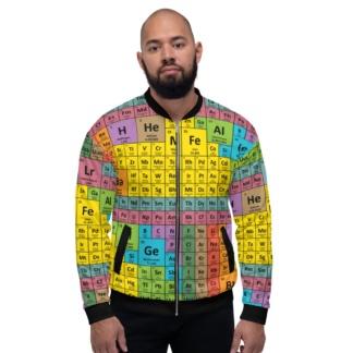 Periodic Table Of Elements Bomber Jacket / Unisex Size