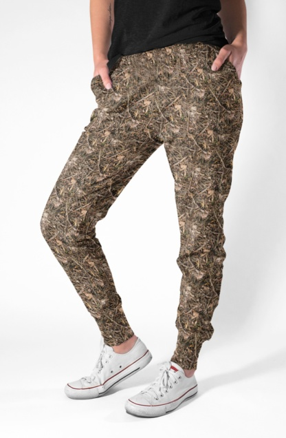 Branches & Twigs Realistic Camouflage Joggers for Women camo