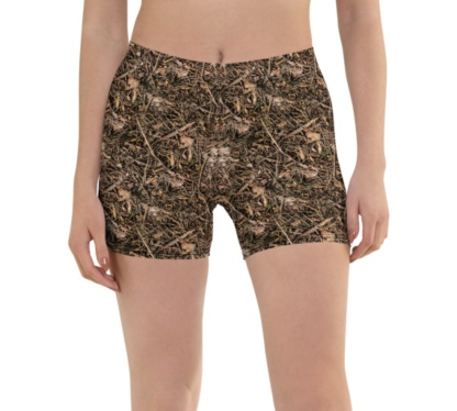 Branches & Twigs Realistic Camouflage Running Shorts camo pants