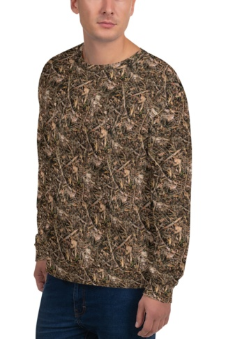 Branches & Twigs Realistic Camouflage Sweatshirt / Unisex Size camo top