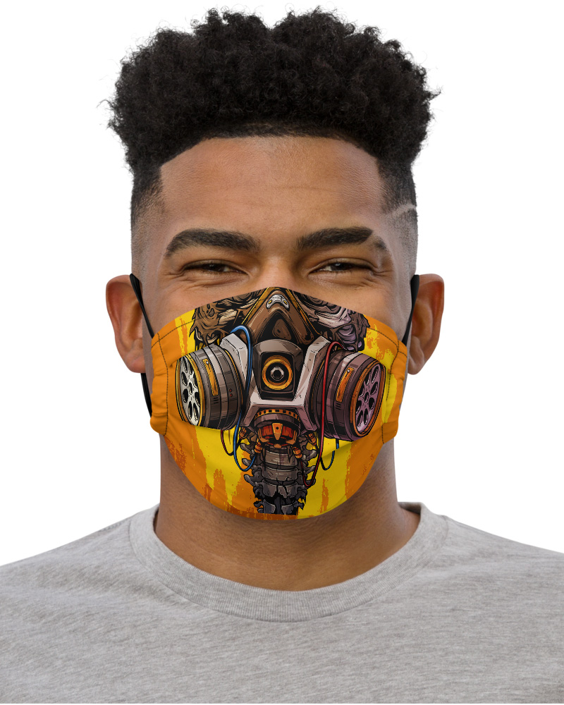 Gas Mask Face Mask with Filter Pocket