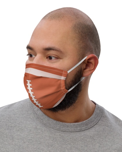Football Face Mask with Filter Pocket sport sporty game nfl leather skin