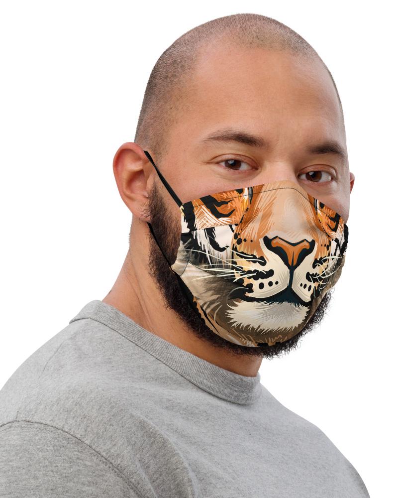 Tiger Face Mask with Filter Pocket Big Cat felion