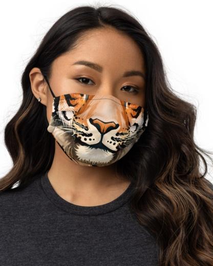 Tiger Face Mask with Filter Pocket Big Cat