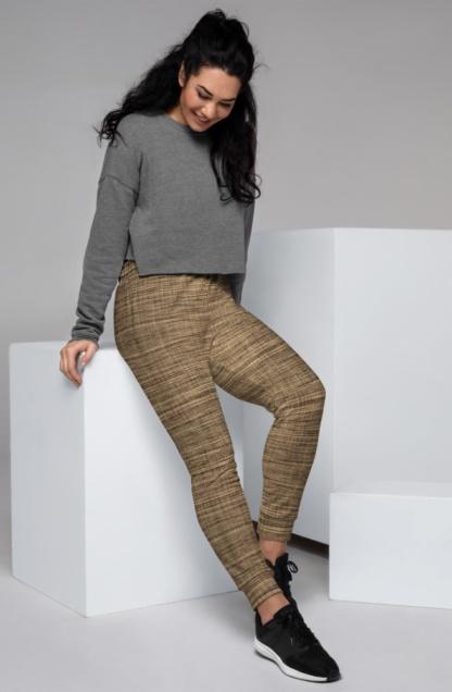Weaved Linen Joggers for Women