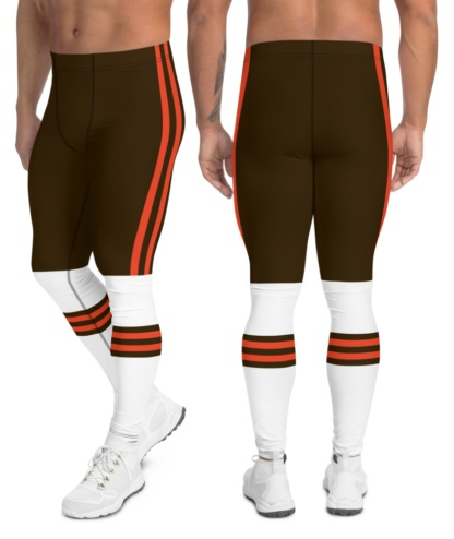 New Cleveland Browns Uniform Football Leggings for Men super bowl