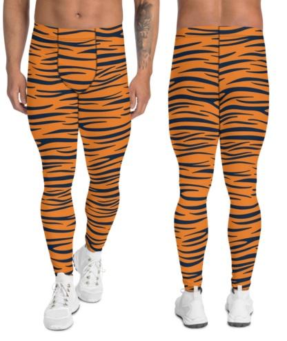 Auburn University Tigers Football Uniform Leggings for Men game day tailgating stripes