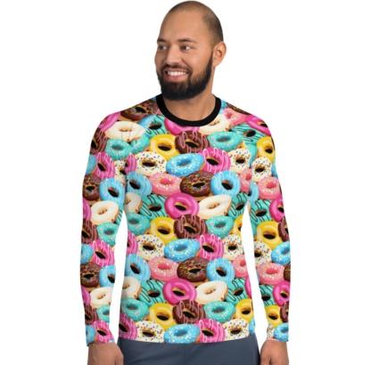 Donuts Long Sleeve Men's Rash Guard