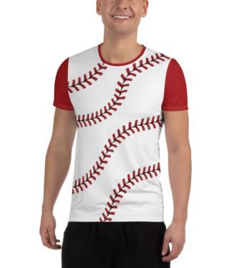 Baseball T-shirt for Men / Athletic Short Sleeve