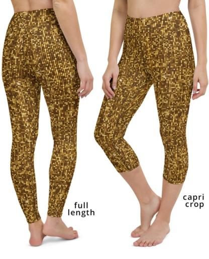 Shimmery Gold Yoga Leggings