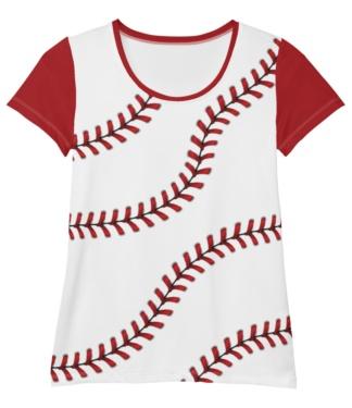 Baseball T-shirt for Women / Athletic Short Sleeve