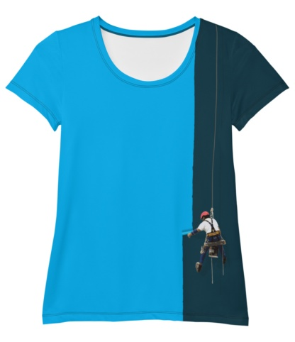 Creative Painter T-shirt / Women's Athletic Short Sleeve